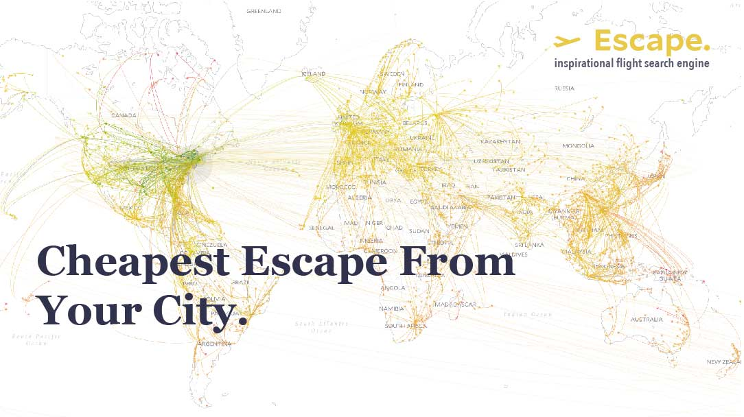 Escape :: Travel inspiration by price
